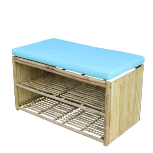 Pyrgos Wood Storage Bench by Bay Isle Home