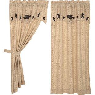 drapes and valance sets wayfair meacham crow and star floral room darkening rod pocket curtain panel with valance pair set of 2 drapes sets youll love wayfair