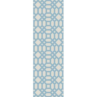 Upper Shockerwick Hand-Woven Beige/Blue Indoor/Outdoor Area Rug