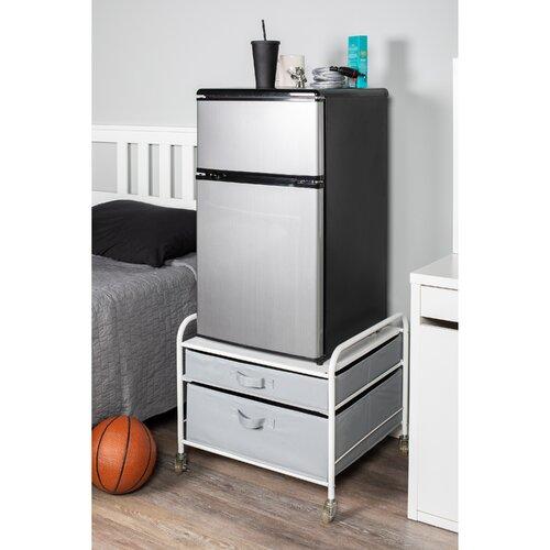 Rebrilliant Gomes Fridge Stand Supreme 2 Drawer Storage Chest