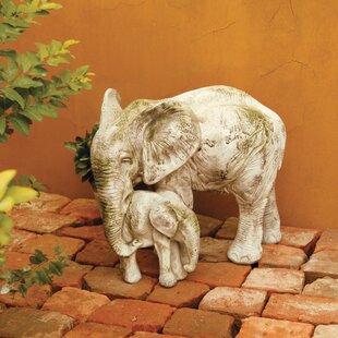 OrlandiStatuary Animals Bull Elephant and Calf Statue