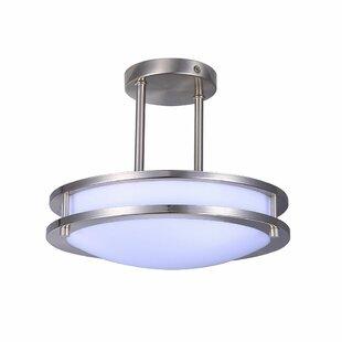 Best Reviews Toupin 1-Light LED Semi Flush Mount By Latitude Run