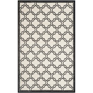 Best Reviews Maritza Ivory/Anthracite Indoor/Outdoor Area Rug By Willa Arlo Interiors