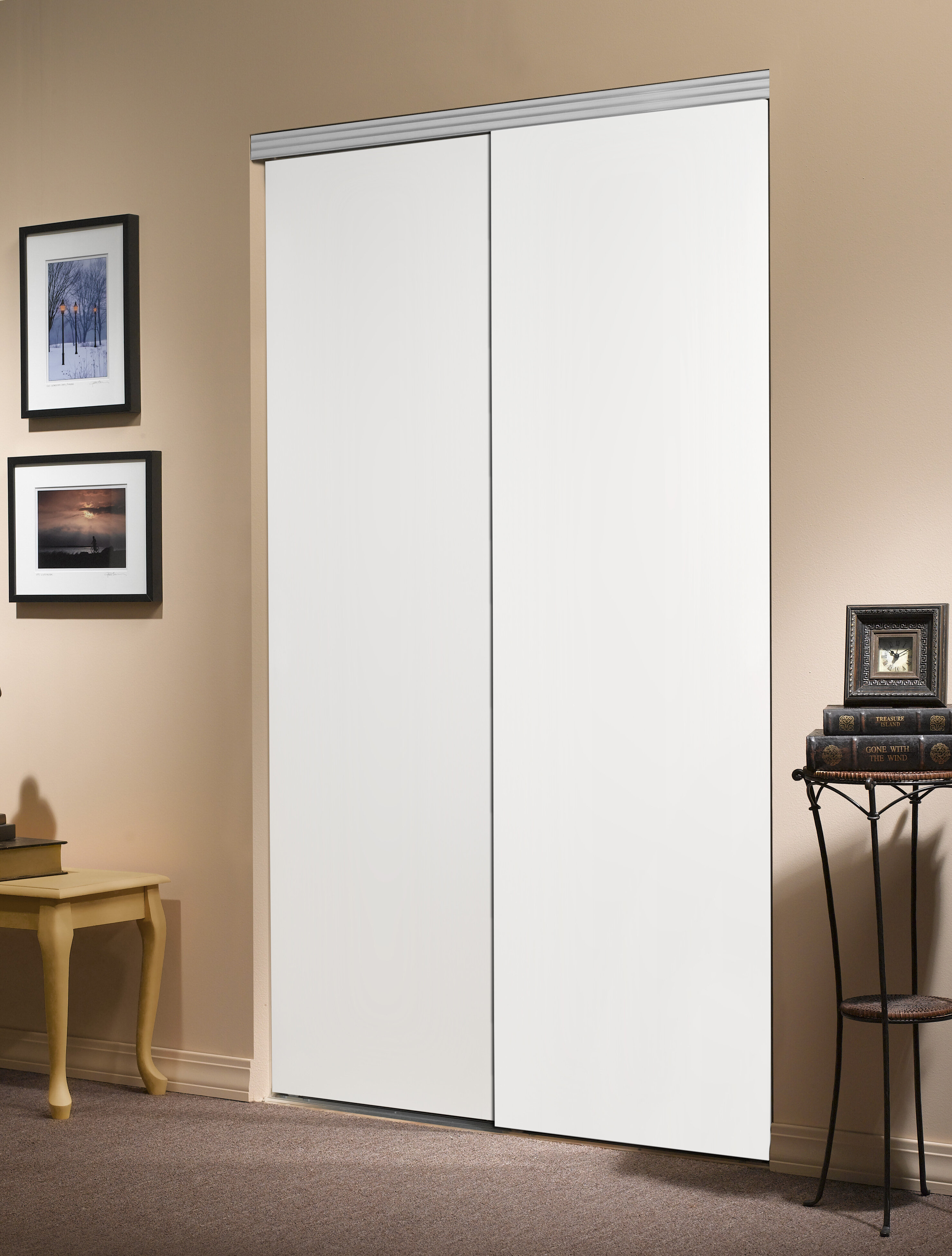 Custom Door And Mirror Flush Manufactured Wood Unfinished Smooth Flush Solid Core Primed Mdf Interior Wayfair