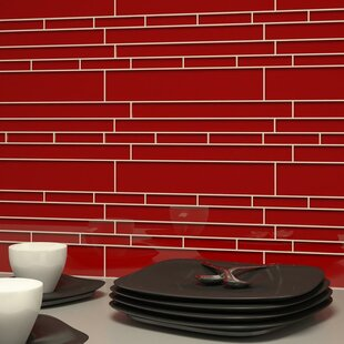 Club Random Sized Glass Mosaic Tile in Ruby Red
