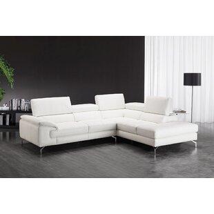 J&M Furniture Nila Leather Sectional