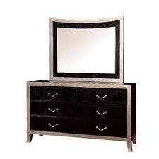 Berthe 6 Drawer Dresser with Mirror by Willa Arlo Interiors