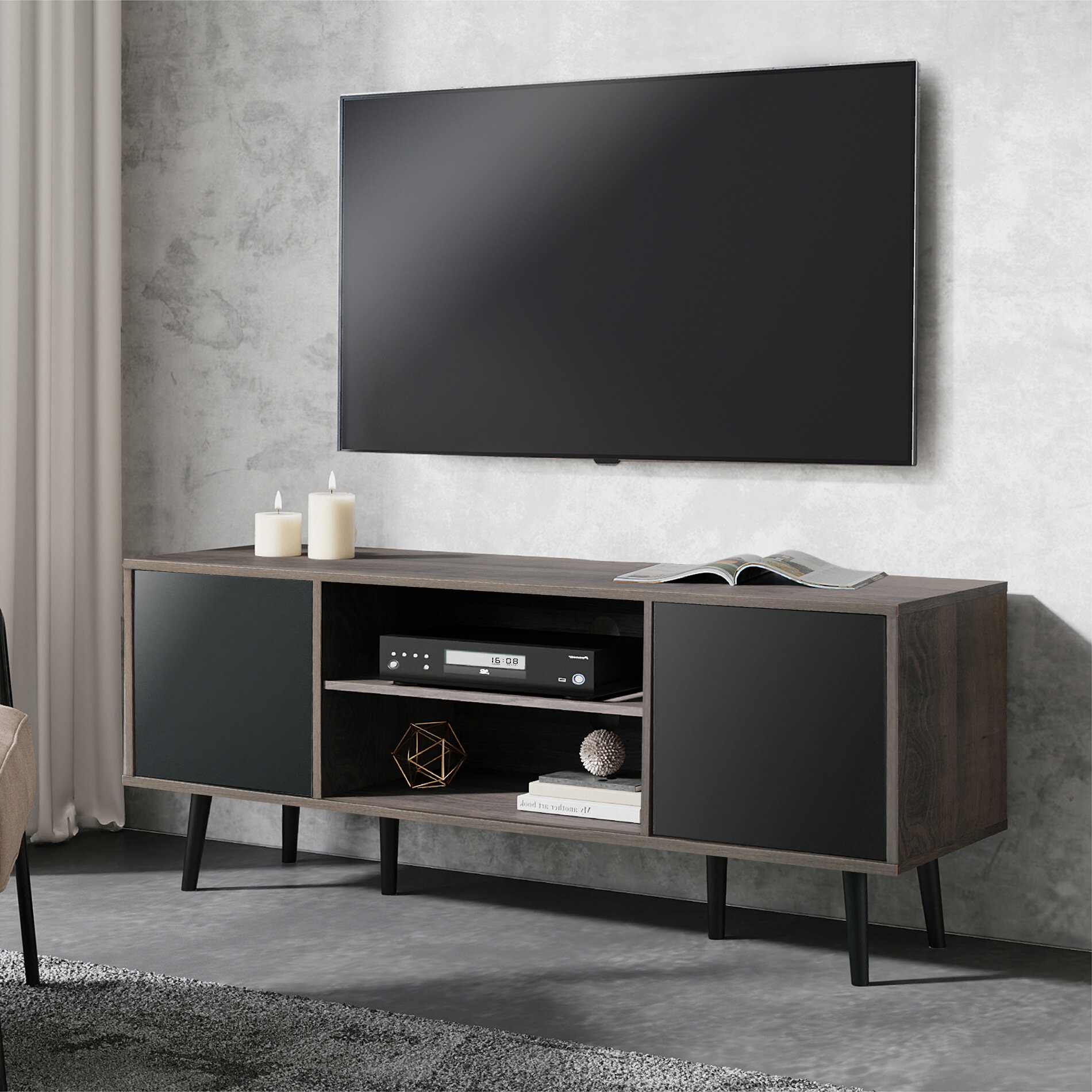 "George Oliver Tarra TV Stand for TVs up to 65"" & Reviews 