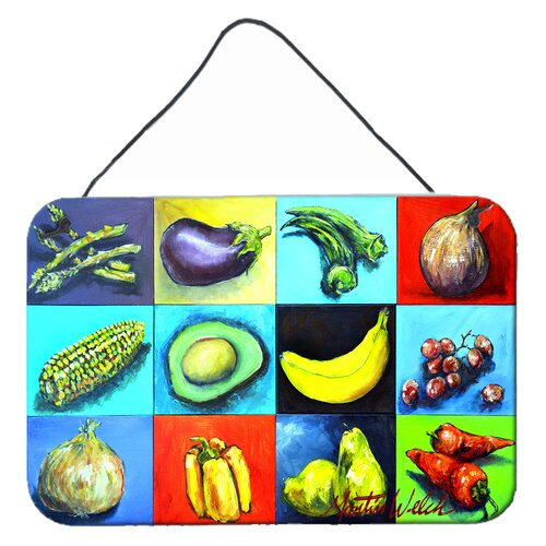 East Urban Home Kennedyville Mixed Fruits And Vegetables Wall Key Organizer With Key Hooks Wayfair
