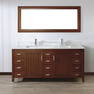 Jacchi 72 Double Bathroom Vanity Set with Mirror by Bauhaus Bath