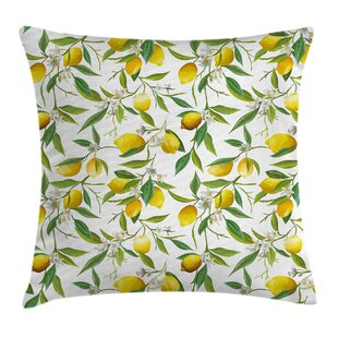 Nature Lemon Woody Romantic Pillow Cover