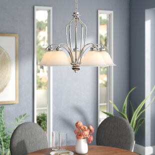 Ebern Designs Nicholas 5-Light Shaded Chandelier