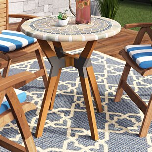 Roseland Mosaic Bistro Table by Beachcrest Home Best