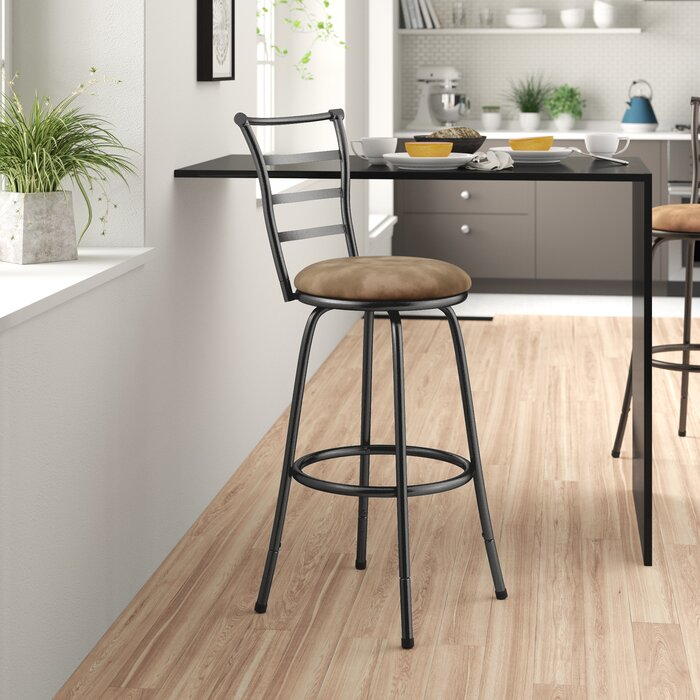 Excellent Deandre Adjustable Height Swivel Bar Stool Caraccident5 Cool Chair Designs And Ideas Caraccident5Info