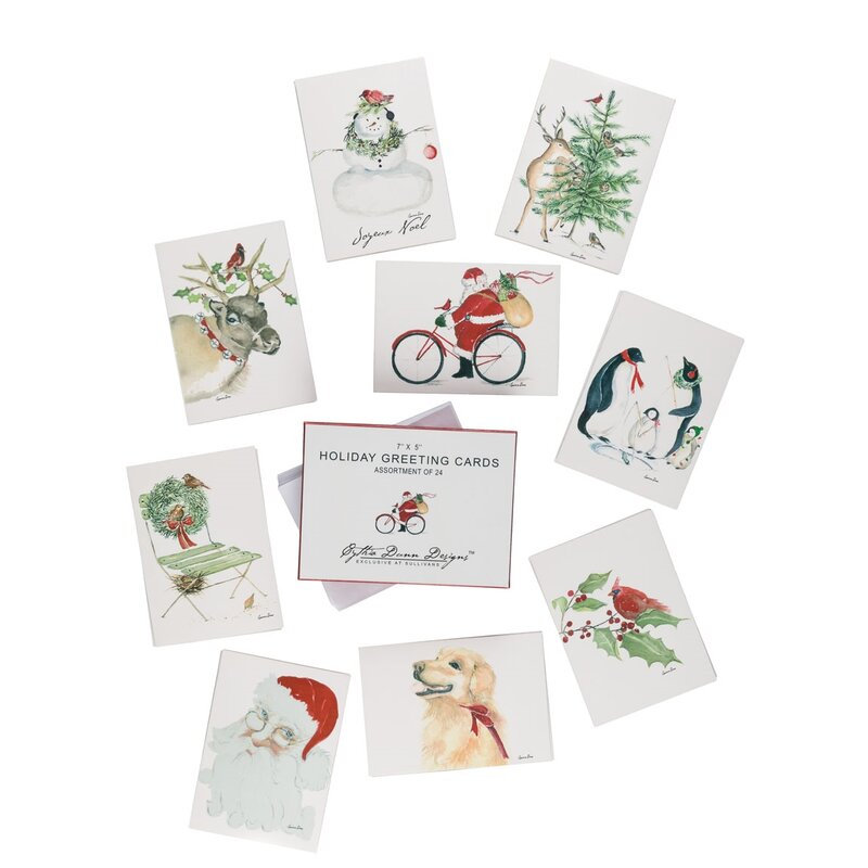 9 Piece Christmas Cards Set | Birch Lane