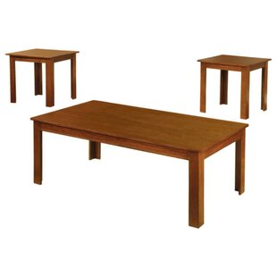 Gebo Transitional 3 Piece Coffee Table Set
