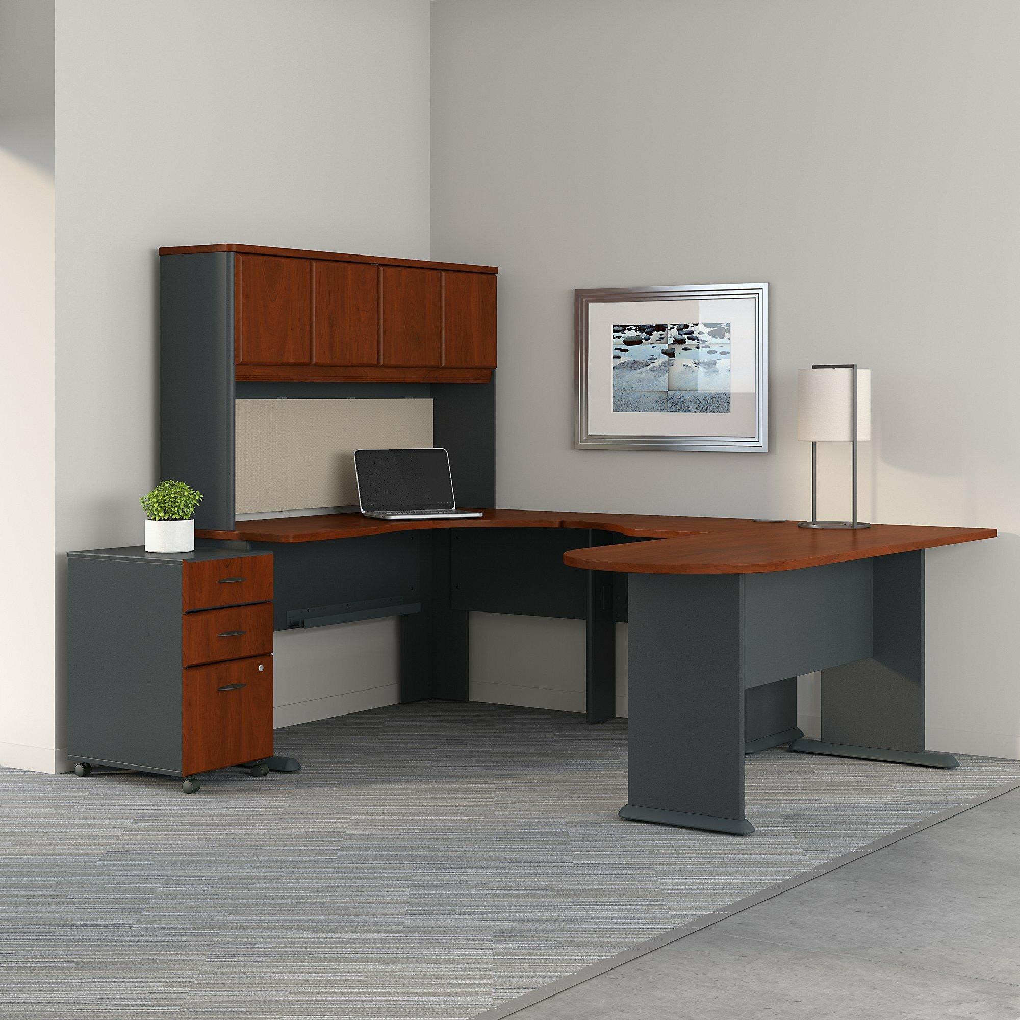 Bush Business Furniture Series A 5 Piece Office Set With Hutch Wayfair