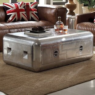 17 Stories Annessia Coffee Table with Trunk
