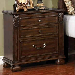 Lafe 3 Drawer Nightstand by Fleur De Lis Living