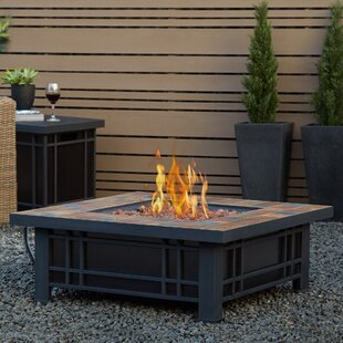 Beau Real Flame Morrison Steel Propane Fire Pit Table