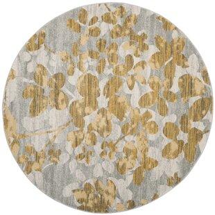 Montelimar Gray/Gold Indoor/Outdoor Area Rug by Lark Manor