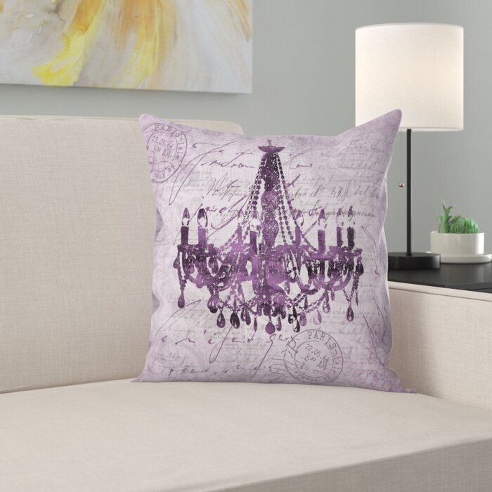 Fabulous Purple Baroque Chandelier Throw Pillow Ocoug Best Dining Table And Chair Ideas Images Ocougorg