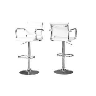 Latitude Run Ivanhoe Adjustable Height Swivel Bar Stool (Set of 2)