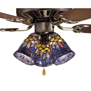 Ceiling fan fitter shades youll love wayfair tiffany 4 glass bell ceiling fan fitter shade aloadofball Choice Image
