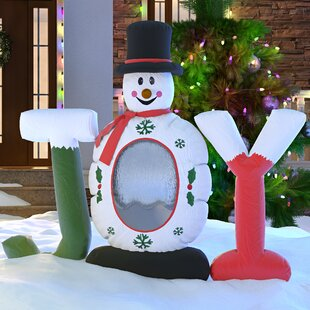 christmas inflatable joy snowman snow globe decoration - Disney Christmas Inflatables