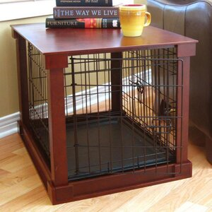 Deluxe Pet Crate in Brown