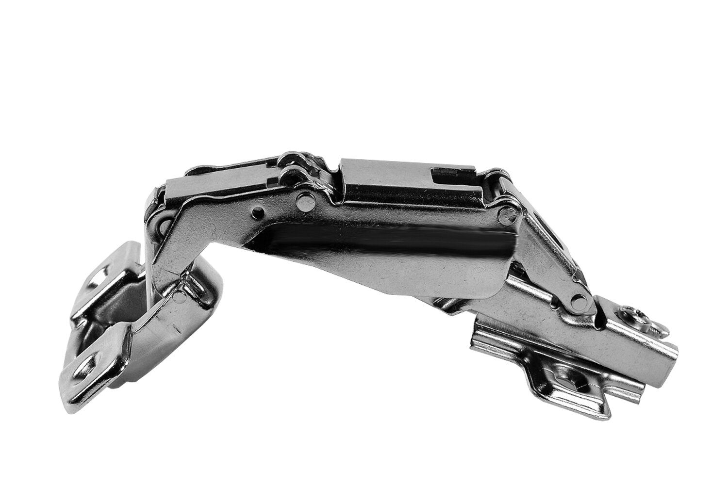 """110 degree Straight Arm hinge 1//2/"""" Overlay-Clip-on W//3MM Alloy Plate Lot of 10"""