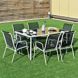Anndria Patio Furniture 7 Piece Dining Set