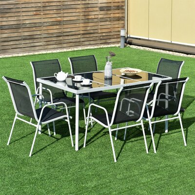 Anndria Patio Furniture 7 Piece Dining Set by Latitude Run Best #1