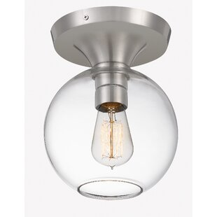 Pamelia 1-Light Semi Flush Mount by Wrought Studio
