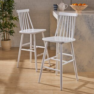Tyson Traditional Rubberwood 29 Bar Stool (Set of 2) Alcott Hill