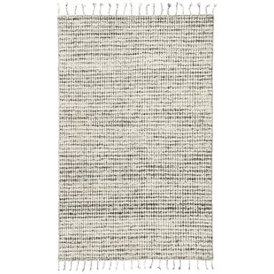 Online Reviews Finnell Hand-Woven Ivory/Black Area Rug ByBungalow Rose
