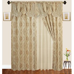 Loyd Damask Room Darkening Thermal Rod Pocket Curtain Panels (Set of 2) by Astoria Grand