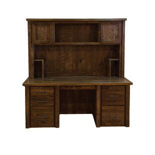 Goldberg Executive Desk With Hutch by Millwood Pines Read Reviews