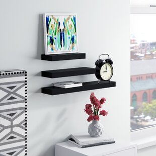 Mercury Row Rectangle 3 Piece Wall Shelf ..