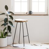 Crooke Solid Wood 29.75 Bar Stool by Foundry Select