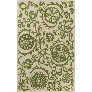 Rhodes Maggie Hand-Tufted Green/Off-White Area Rug