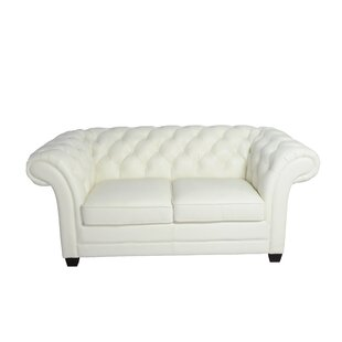 Leather Chesterfield Sofa by Lazzaro Leather Find