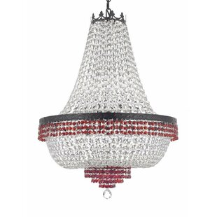 Monika Crystal 9-Light Chandelier by Rosdorf Park