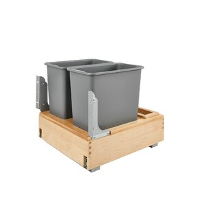 Plastic 7.5 Gallon Pull Out Trash Can