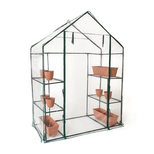 Trademark Innovations 2.4 Ft. W x 4.7 Ft. D Greenhouse