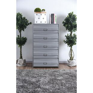 Price comparison Roger Industrial Metal 5 Drawer Chest by 17 Stories