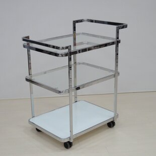 Ferrara Kitchen Cart with Glass Top Casabianca Furniture