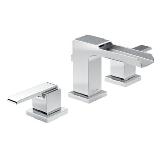 Delta Ara Widespread Bathroom Faucet with Drain Assembly and Diamond™ Seal Technology