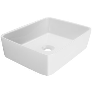 Affordable Nautilus Series Vitreous China Rectangular Vessel Bathroom Sink By Ticor Sinks