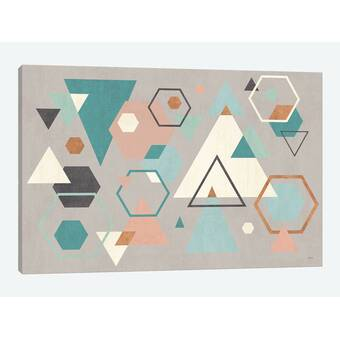 Click Wall Art Triangle Codex Black Coral Framed Graphic Art On Canvas Wayfair